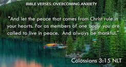 Colossians 3:15 NLT