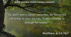 Matthew 6:34 NLT