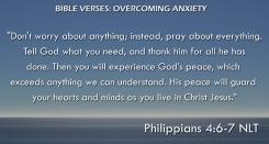 Philippians 4:6-7 NLT