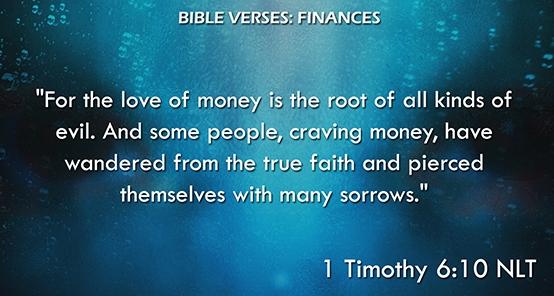 Bible Verses: Finances