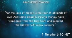 1 Timothy 6:10 NLT