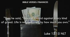 Luke 12:15 NLT