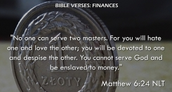 Matthew 6:24 NLT