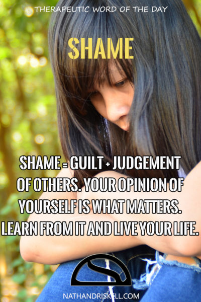 Therapeutic Word of the Day: Shame
