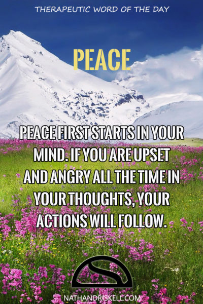 Therapeutic Word of the Day: Peace