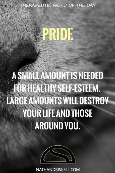 Therapeutic Word of the Day: Pride