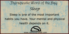 Sleep is one of the most important habits you have. Your mental and physical health depends on it.