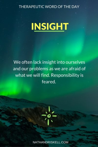 Therapeutic Word of the Day: Insight
