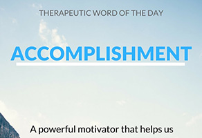 Therapeutic Word of the Day: Accomplishment